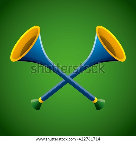 sports bugles design  - stock vector