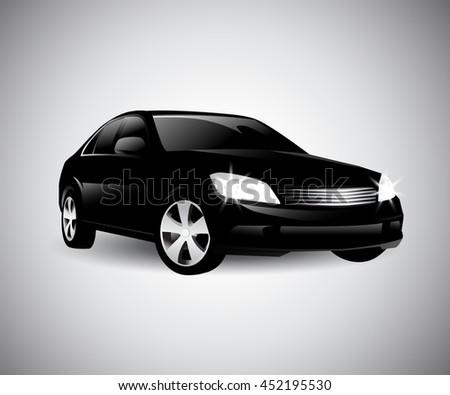 sports car vector, vector illustration - stock vector