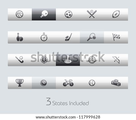 Sports // Classic Series +++ It includes 3 buttons states in different layers. +++ - stock vector