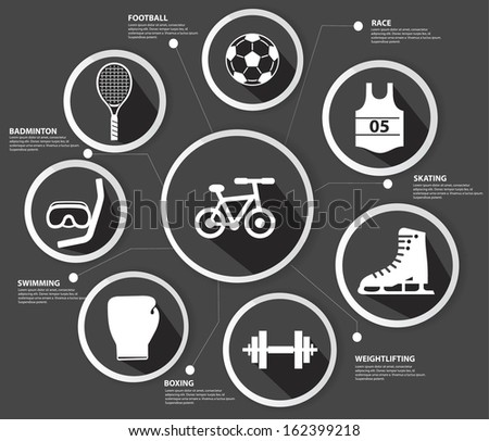 Sports concept,Black version,vector - stock vector
