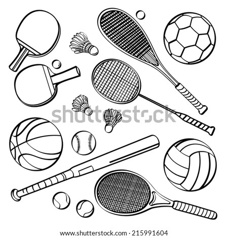 Sports Equipment Collections - stock vector