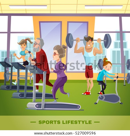 Sports Family Flat Template Father Mother Stock Vector ...