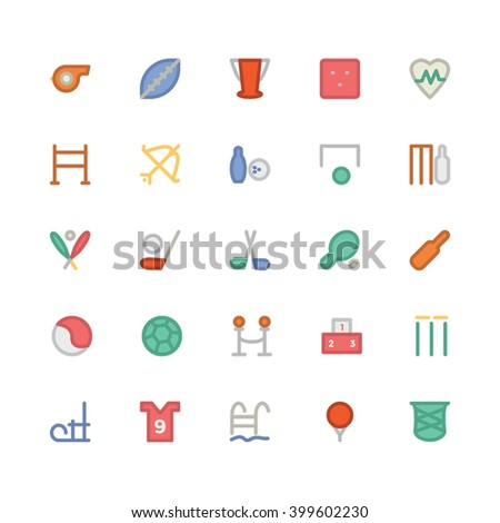 Sports flat bold vector icon  3