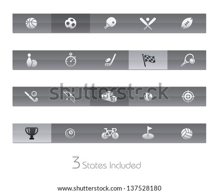 Sports // Gelbar Series +++ It includes 3 buttons states in different layers. +++ - stock vector