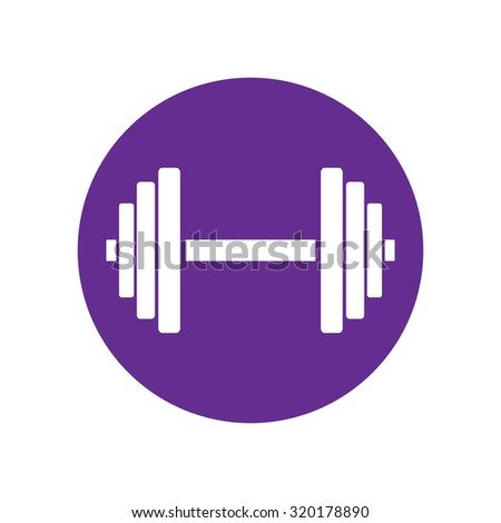 Sports gym equipment. Dumbbell - Vector icon isolated. - stock vector