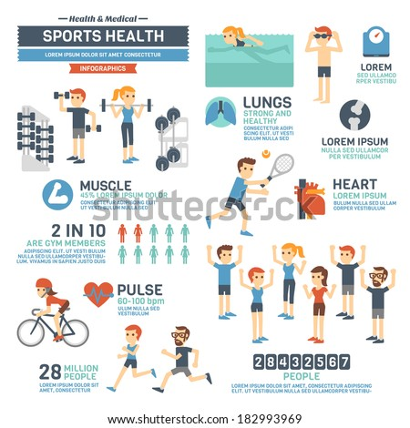 Sports health infographics stock vector 182993969 for Sports infographics templates