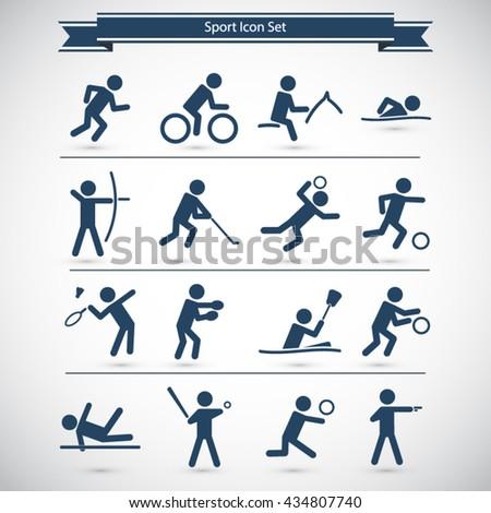 Sports icon set - stock vector