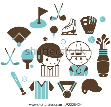 Sports icons A  - stock vector