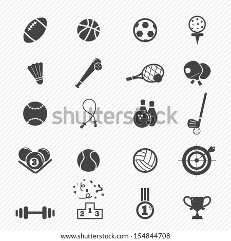 Sports Icons  isolated on white background - stock vector