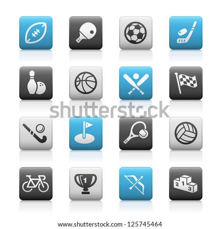 Sports Icons // Matte Series - stock vector