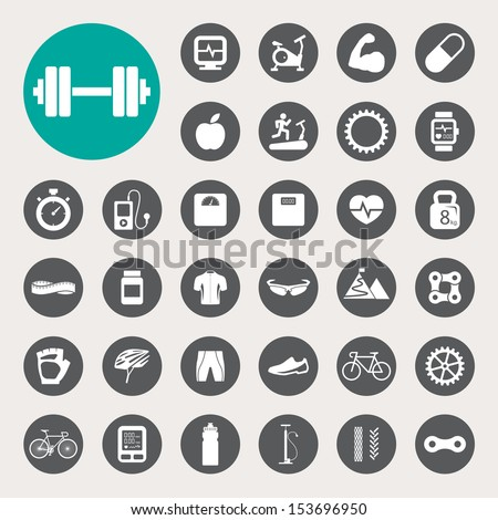 Sports Icons set.Illustration EPS10 - stock vector