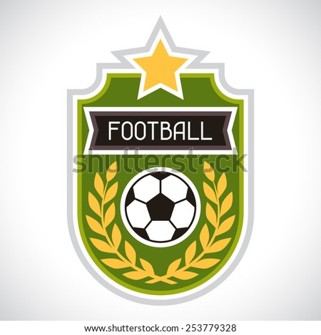 Sports illustration soccer football stylized decorative badge. - stock vector