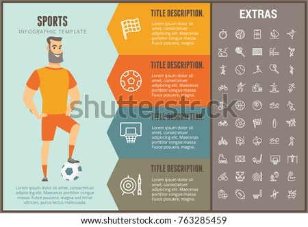 Sports infographic options template elements icons stock for Sports infographics templates