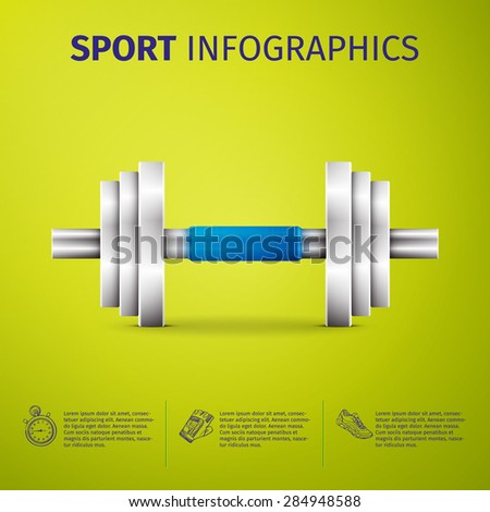 Sports infographics. Vector elements for you design - stock vector