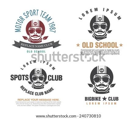 Sports insignia emblem set  - stock vector