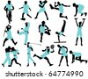 Sports people - stock vector
