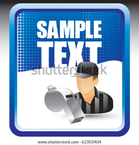 sports referee blue banner - stock vector