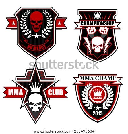 motor club emblem set stock vector 183638798 shutterstock. Black Bedroom Furniture Sets. Home Design Ideas