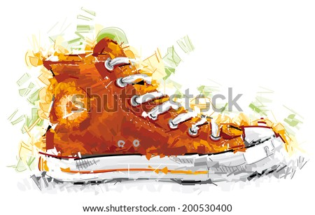 Sports Shoe - stock vector