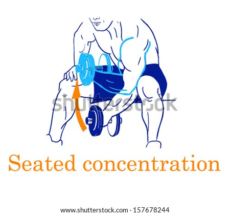 Sports silhouettes. Workout, man in shorts doing sport. Seated consentration - stock vector