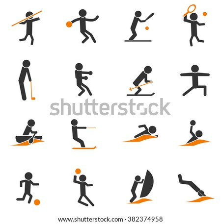 Sports simple icons for web and user interfaces