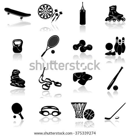 Sports-Sports Equipment Icon- Illustration - stock vector