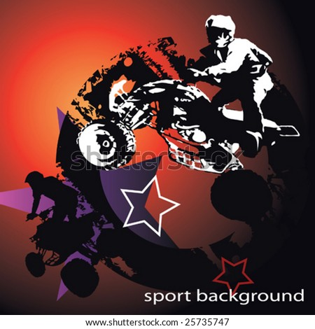 sports track - stock vector