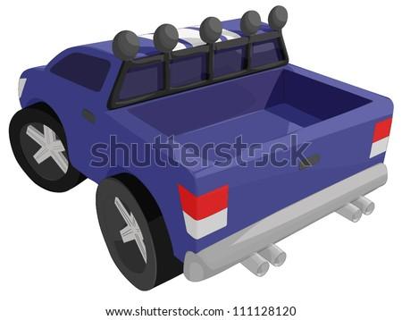 Sports Truck - stock vector