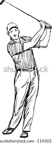 sportsman - stock vector