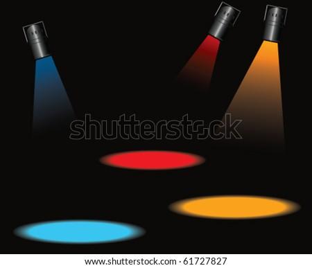 spot light - stock vector