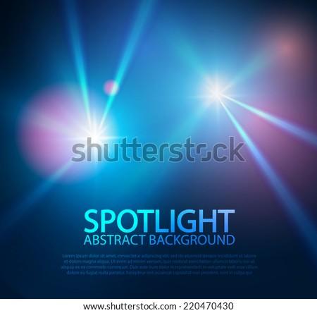 Spotlight abstract background. Vector illustration - stock vector