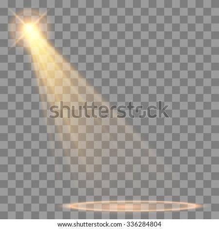 spotlight effect - stock vector