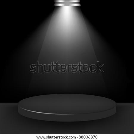 Spotlight Presentation Room, Vector Illustration - stock vector