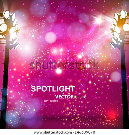 spotlight vector background, easy editable - stock vector