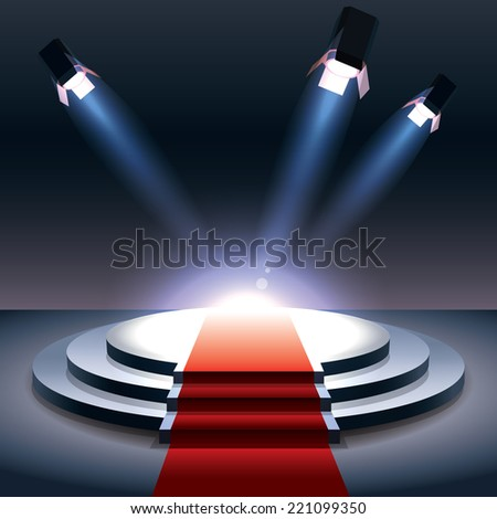 Spotlight with projectors  - stock vector