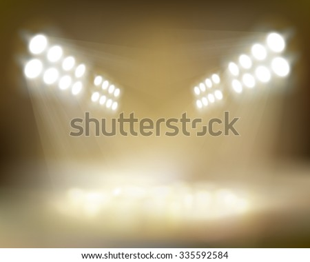 Spotlights beams. Vector illustration. - stock vector