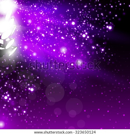 Spotlights on stage with light - stock vector