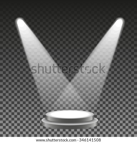 Spotlights stage. Scene. Light Effects. Eps10. Vector illustration - stock vector