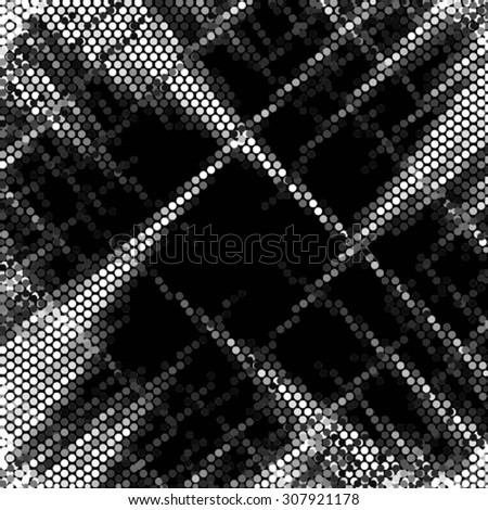 Spotted abstract background halftone effect. Vector illustration