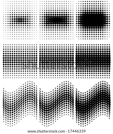spotted halftone vector - stock vector