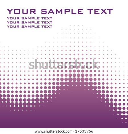 spotted halftone vector with copy-space - stock vector