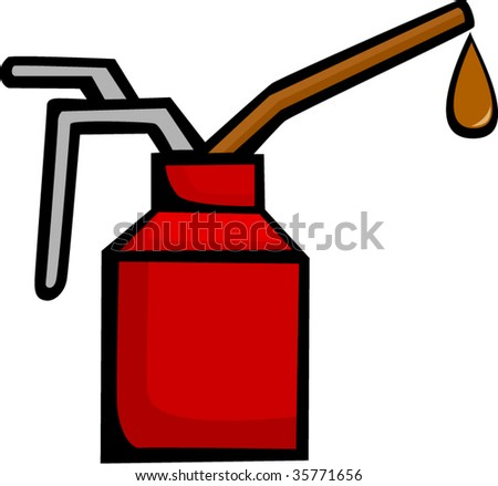 spout oil can applicator - stock vector