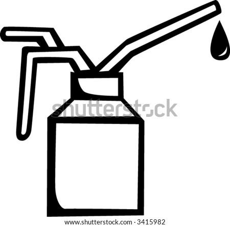 spout oiler can - stock vector