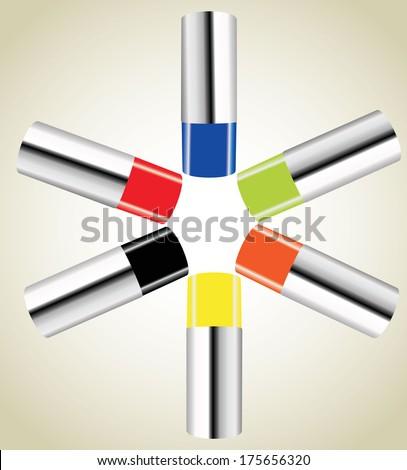 spray can - stock vector