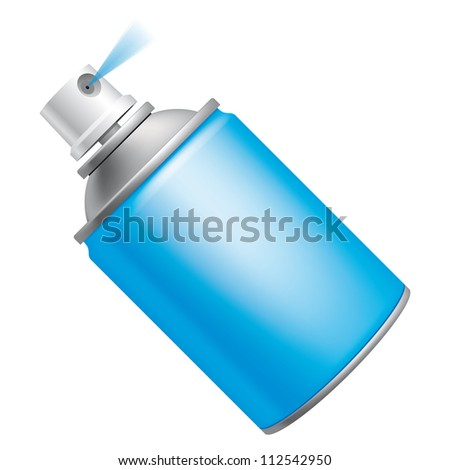 Spray can (EPS 10,includes transparency and mesh) - stock vector