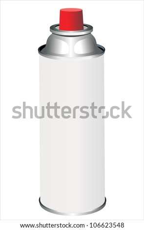 spray can isolated on white - stock vector