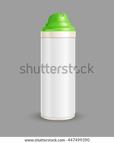spray can on a gray background - stock vector