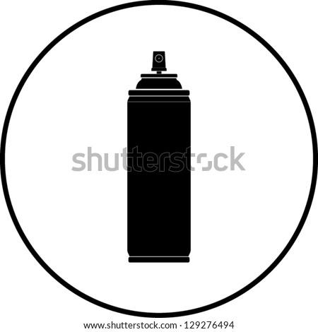 Spray can symbol - stock vector