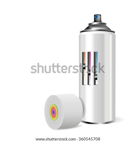Spray cap with realistic color  and shadow