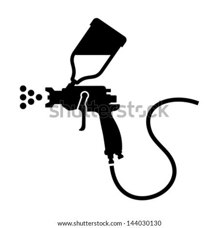 Spray gun icon - stock vector